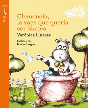 Portada Clemencia la vaca que quería ser blanca